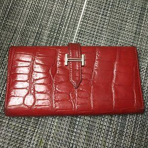 Pretty red wallet